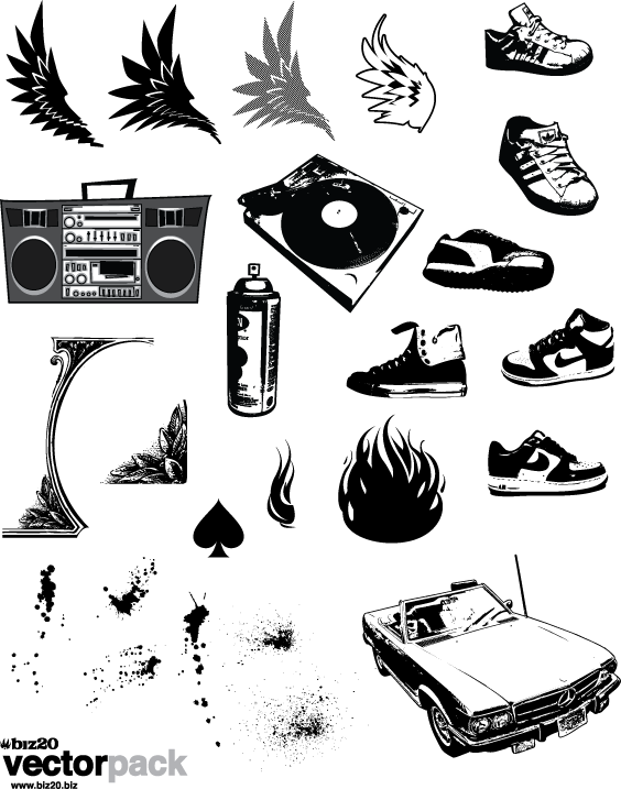 Hip Hop Vector Pack