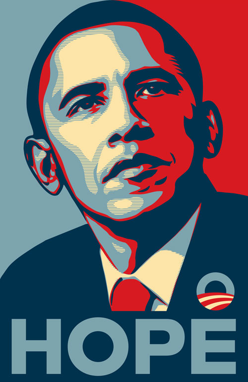 Original Photograph For Obama Hope Poster by Manny Garcia
